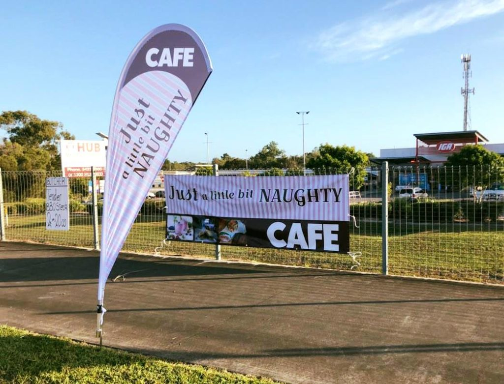 Promotional flags and banners - North Lakes Signs