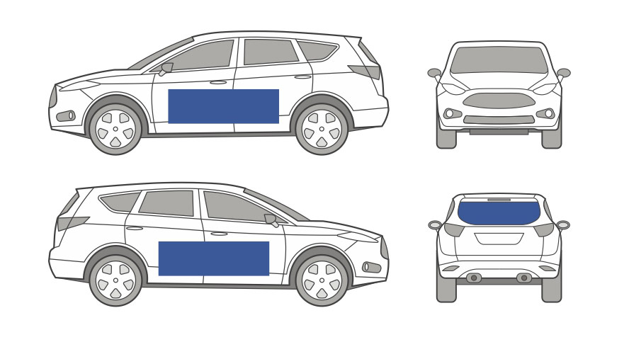 Car Sign Example Graphic